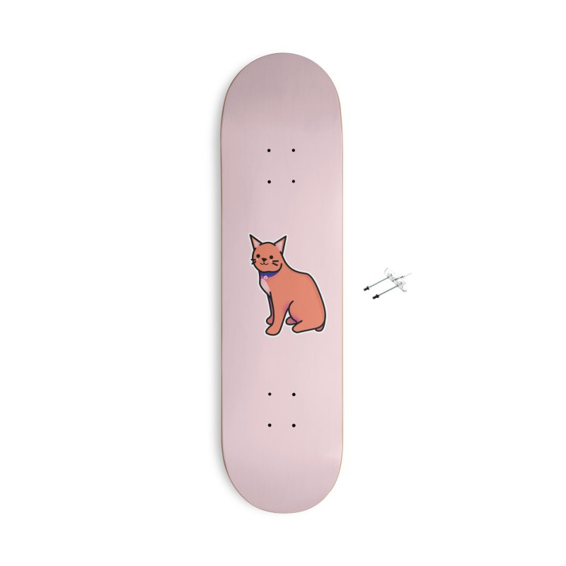 Cat Accessories With Hanging Hardware Skateboard by theladyernestember's Artist Shop