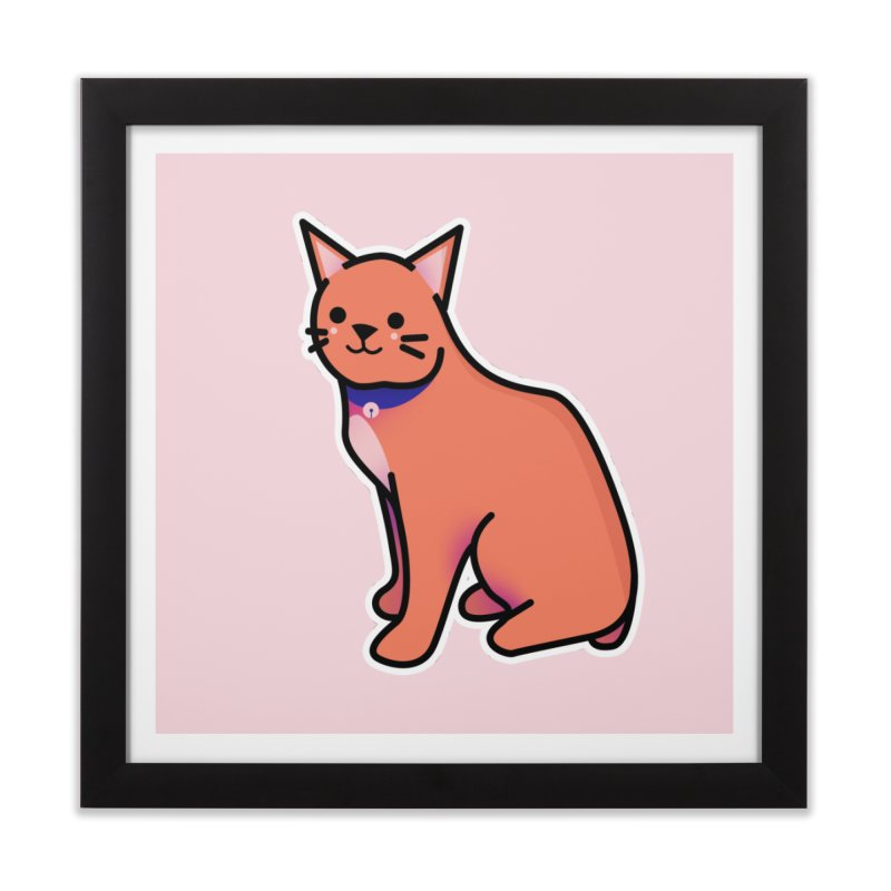 Cat Home Framed Fine Art Print by theladyernestember's Artist Shop