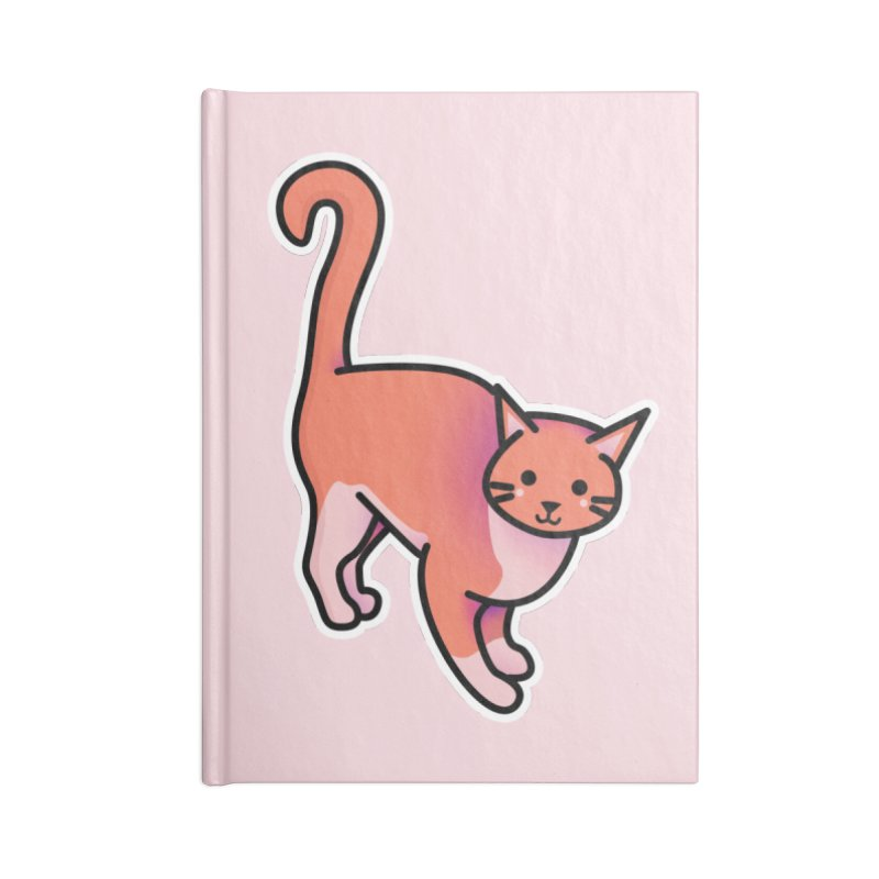 Cat Accessories Lined Journal Notebook by theladyernestember's Artist Shop