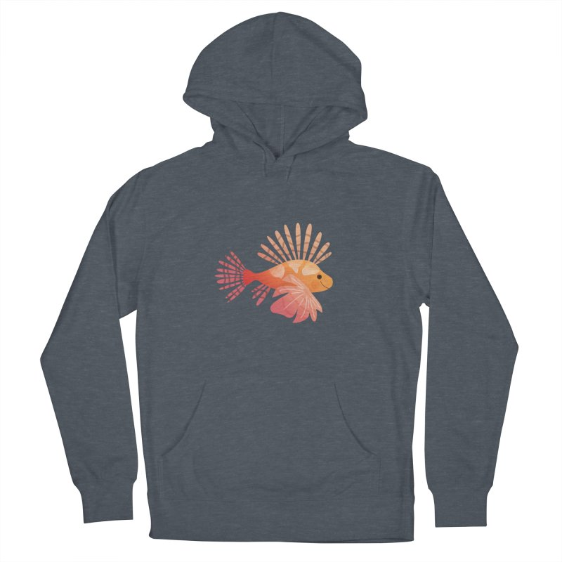 Lionfish Men's French Terry Pullover Hoody by theladyernestember's Artist Shop