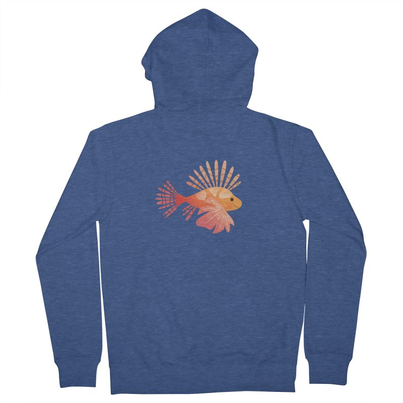 Lionfish Women's French Terry Zip-Up Hoody by theladyernestember's Artist Shop