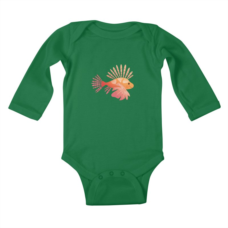 Lionfish Kids Baby Longsleeve Bodysuit by theladyernestember's Artist Shop