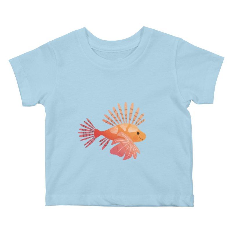 Lionfish Kids Baby T-Shirt by theladyernestember's Artist Shop