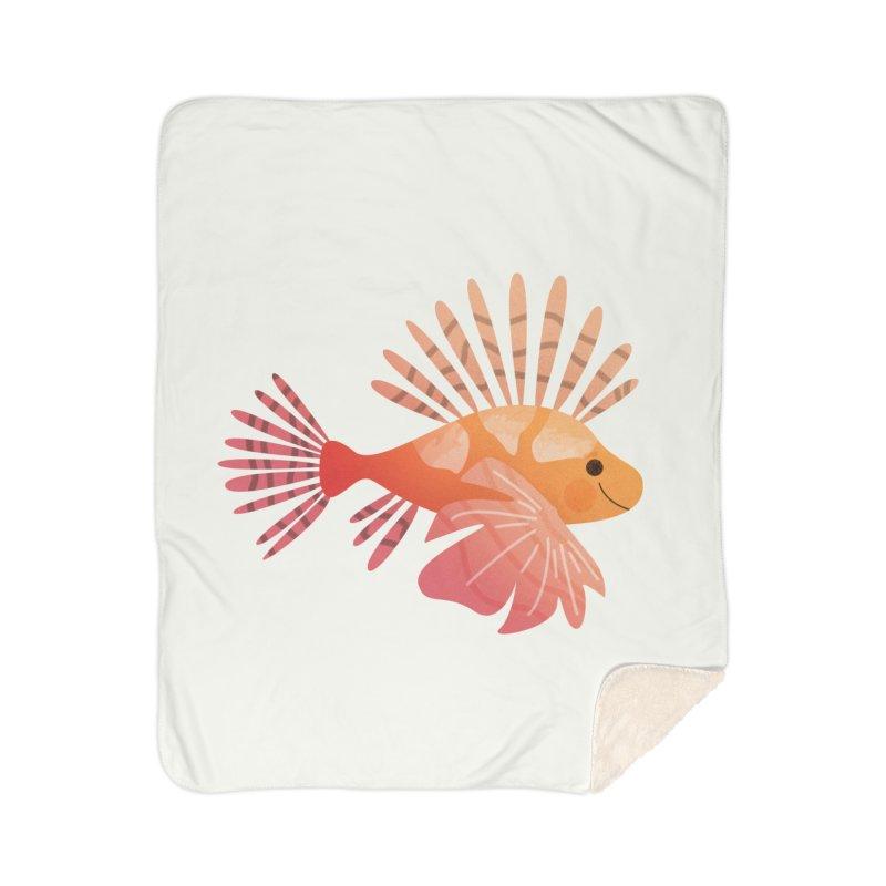 Lionfish Home Sherpa Blanket Blanket by theladyernestember's Artist Shop