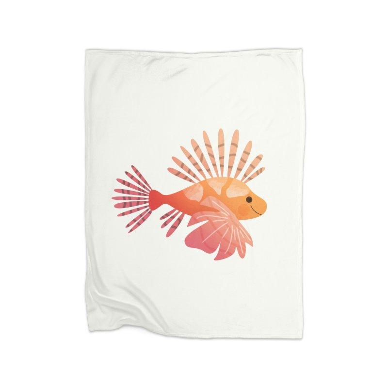 Lionfish Home Fleece Blanket Blanket by theladyernestember's Artist Shop