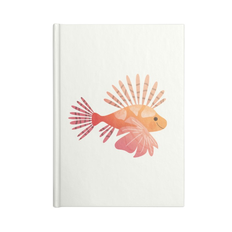 Lionfish Accessories Lined Journal Notebook by theladyernestember's Artist Shop
