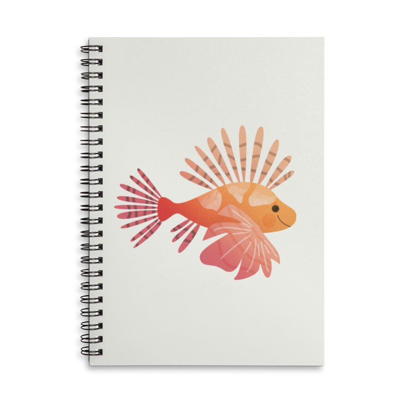 Lionfish Accessories Lined Spiral Notebook by theladyernestember's Artist Shop