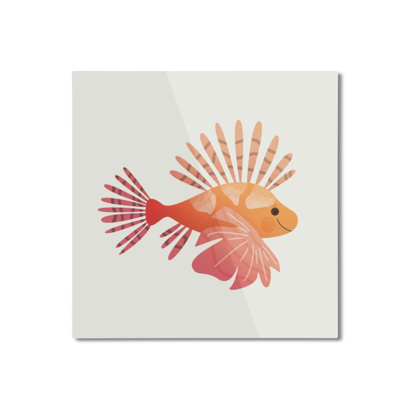 Lionfish Home Mounted Aluminum Print by theladyernestember's Artist Shop