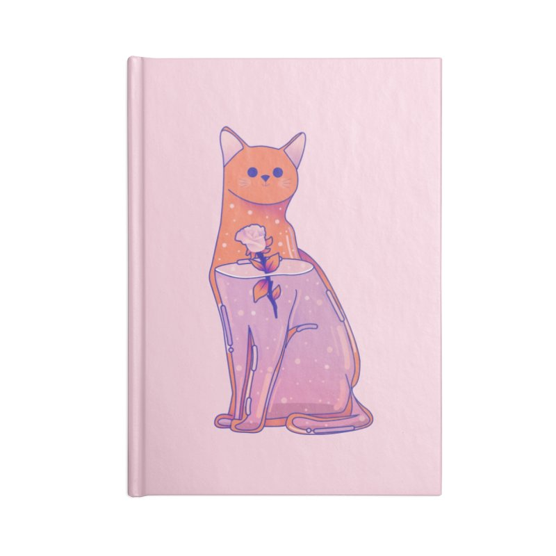 Cat with its rose Accessories Lined Journal Notebook by theladyernestember's Artist Shop