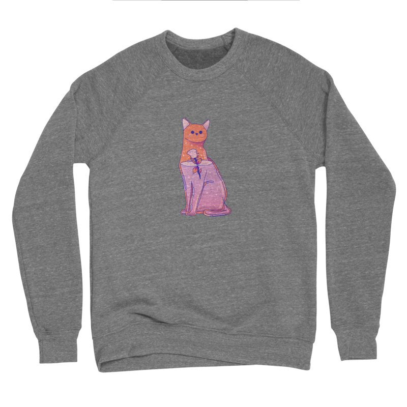 Cat with its rose Women's Sponge Fleece Sweatshirt by theladyernestember's Artist Shop