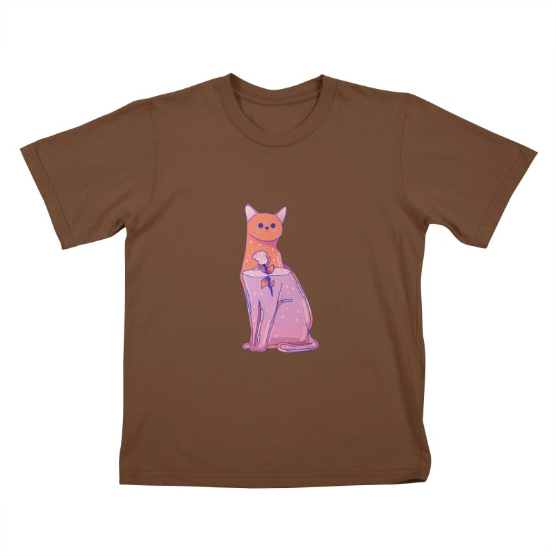 Cat with its rose Kids T-Shirt by theladyernestember's Artist Shop