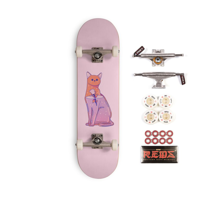 Cat with its rose Accessories Complete - Pro Skateboard by theladyernestember's Artist Shop