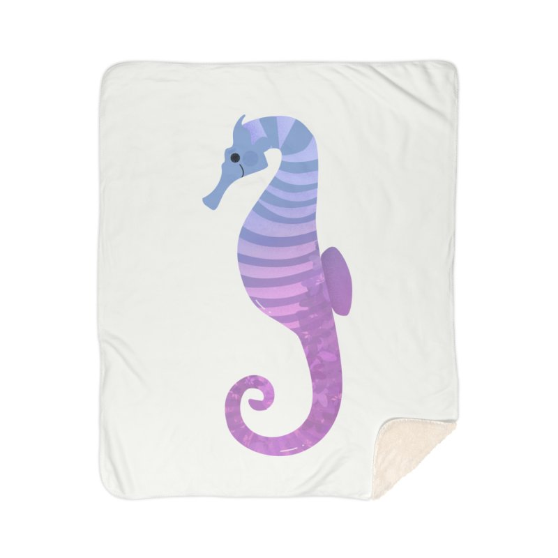 Seahorse Home Sherpa Blanket Blanket by theladyernestember's Artist Shop