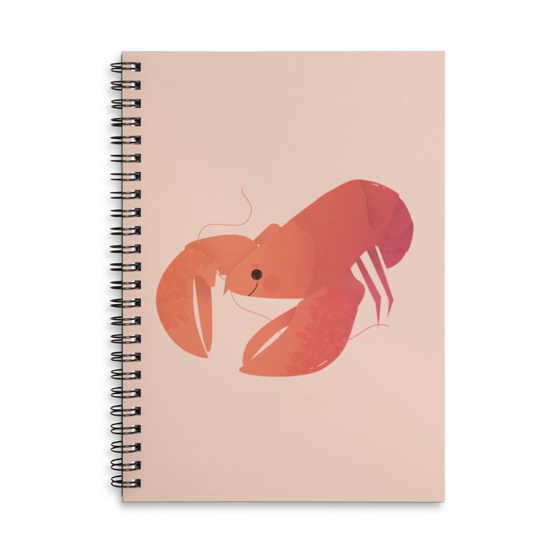 Lobster Accessories Lined Spiral Notebook by theladyernestember's Artist Shop