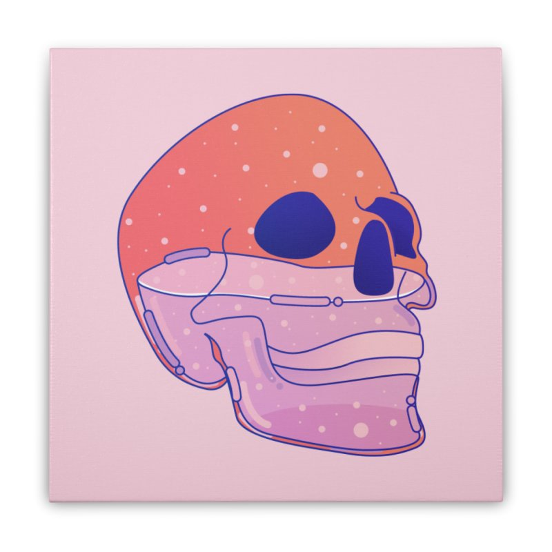 Skull Home Stretched Canvas by theladyernestember's Artist Shop