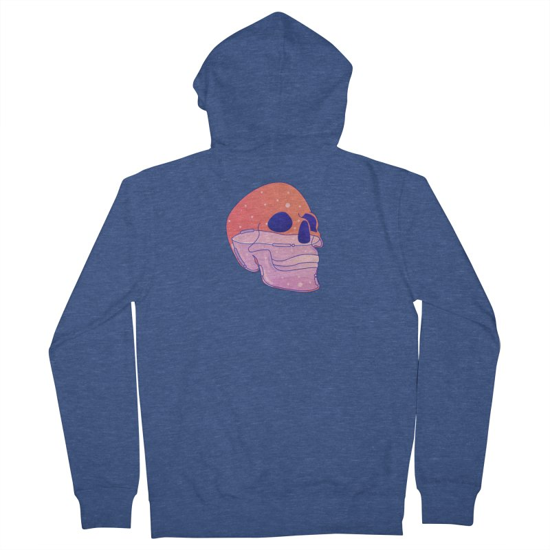 Skull Men's French Terry Zip-Up Hoody by theladyernestember's Artist Shop