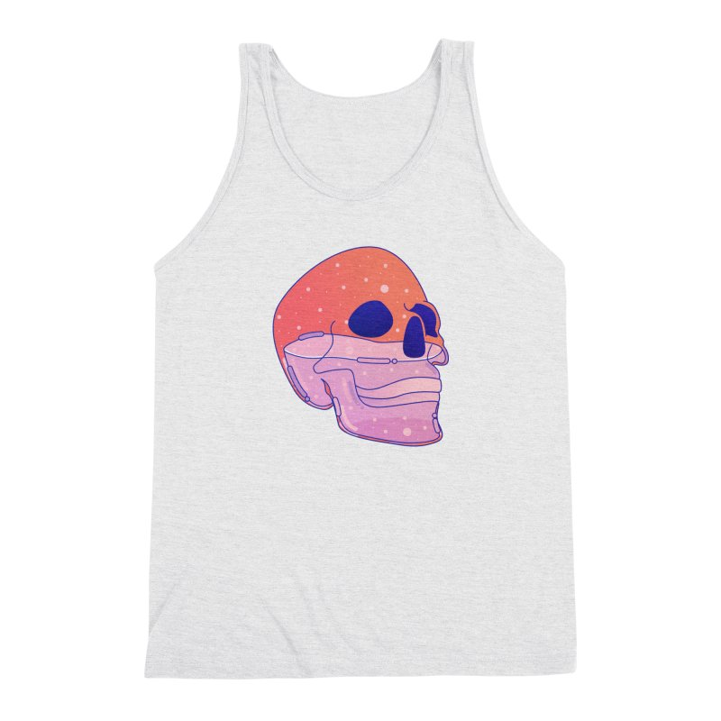Skull Men's Triblend Tank by theladyernestember's Artist Shop