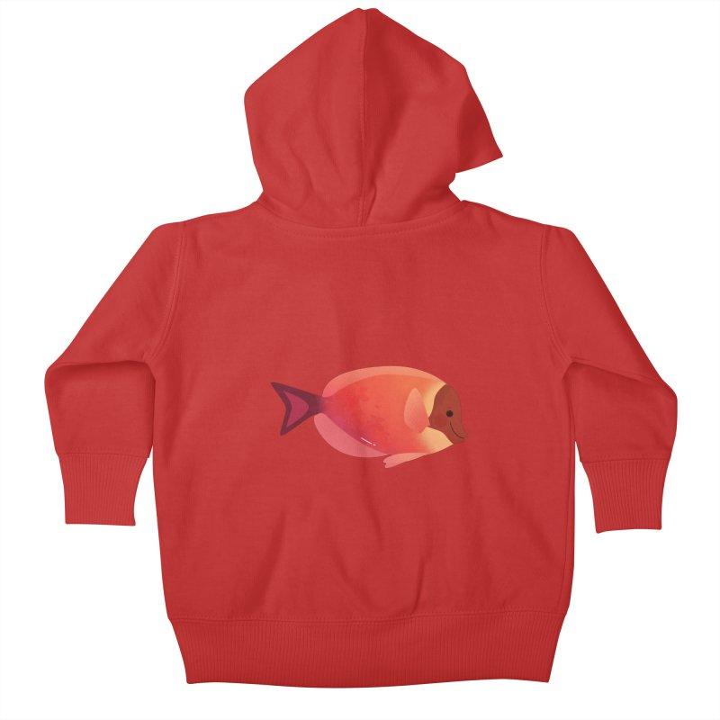Surgeonfish Kids Baby Zip-Up Hoody by theladyernestember's Artist Shop