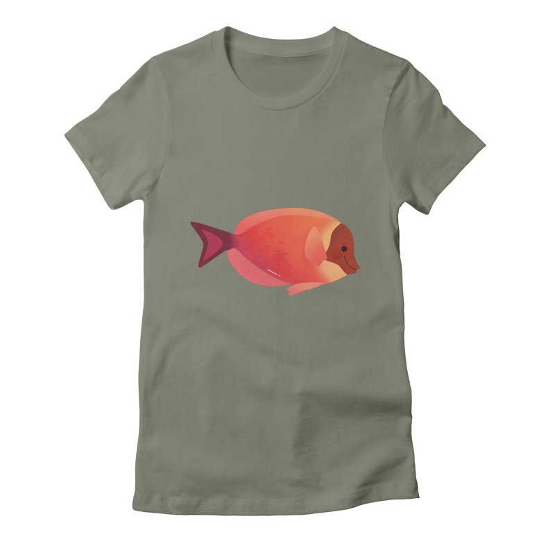 Surgeonfish Women's Fitted T-Shirt by theladyernestember's Artist Shop