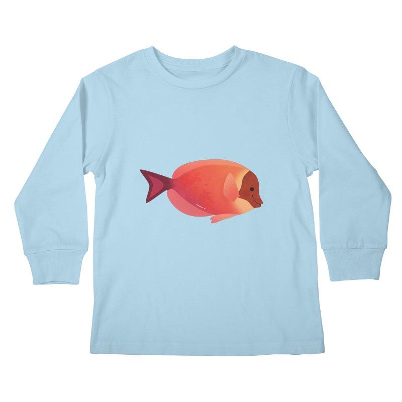 Surgeonfish Kids Longsleeve T-Shirt by theladyernestember's Artist Shop