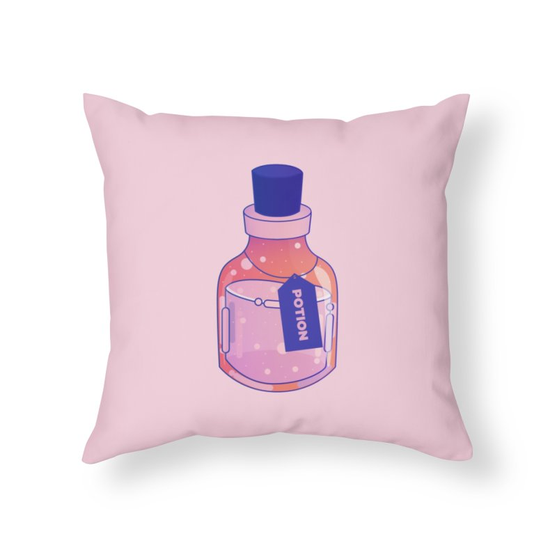 Potion Home Throw Pillow by theladyernestember's Artist Shop