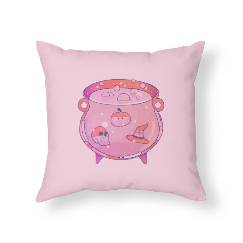 Cauldron Home Throw Pillow by theladyernestember's Artist Shop