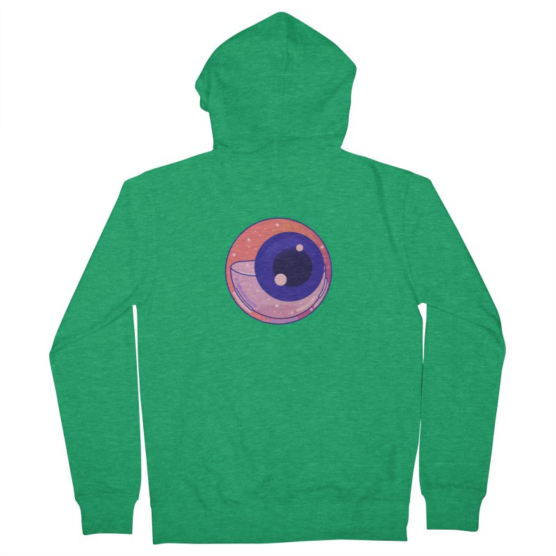 Eyeball Women's French Terry Zip-Up Hoody by theladyernestember's Artist Shop