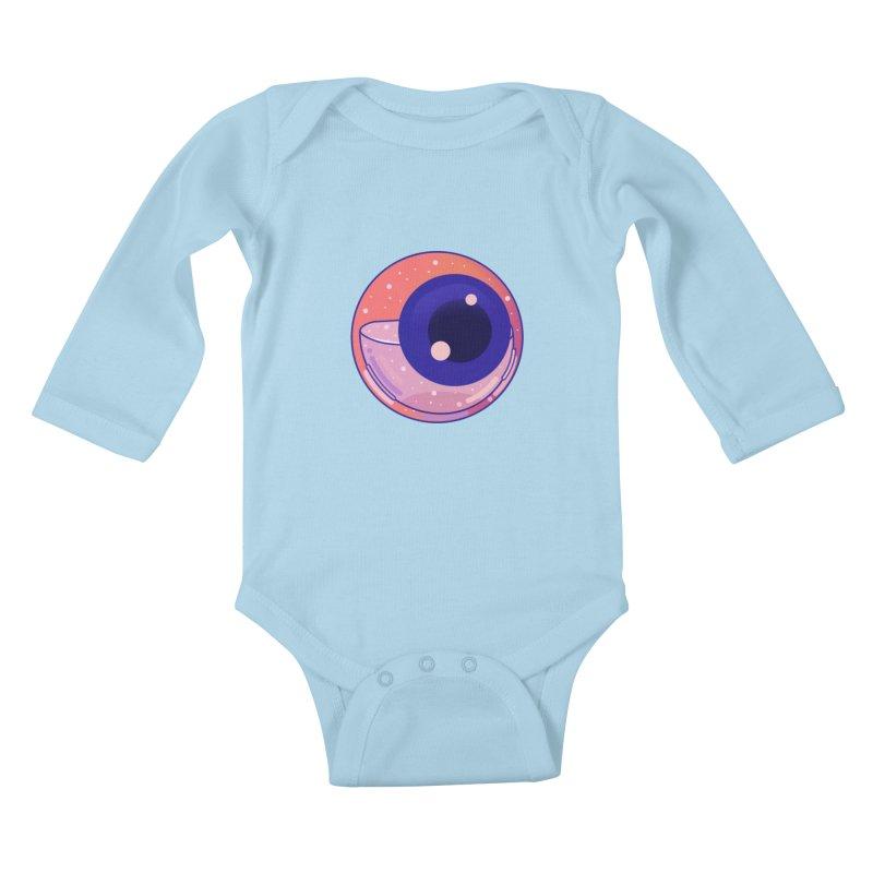 Eyeball Kids Baby Longsleeve Bodysuit by theladyernestember's Artist Shop
