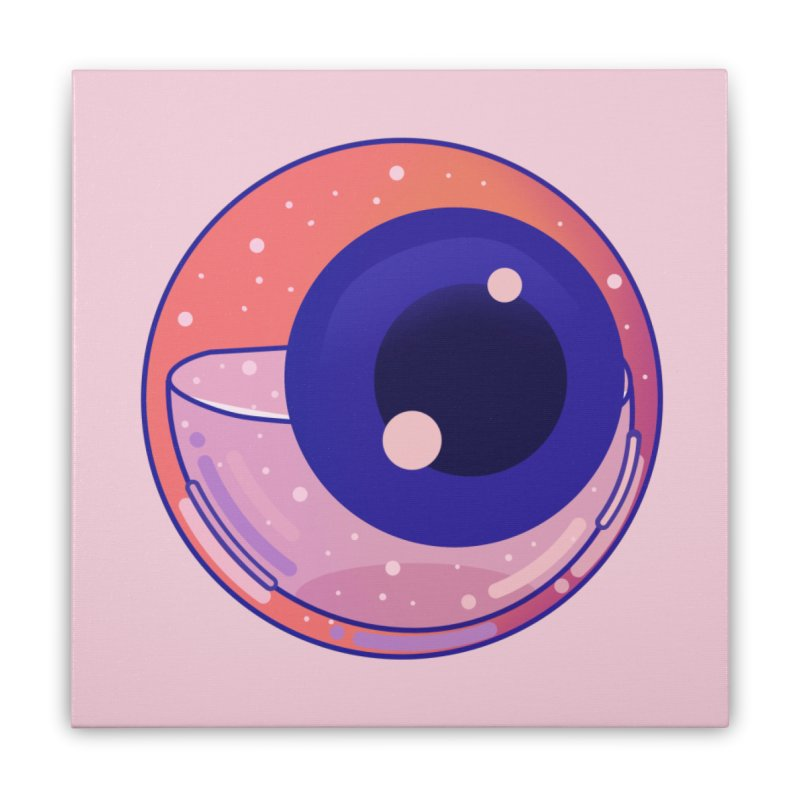 Eyeball Home Stretched Canvas by theladyernestember's Artist Shop