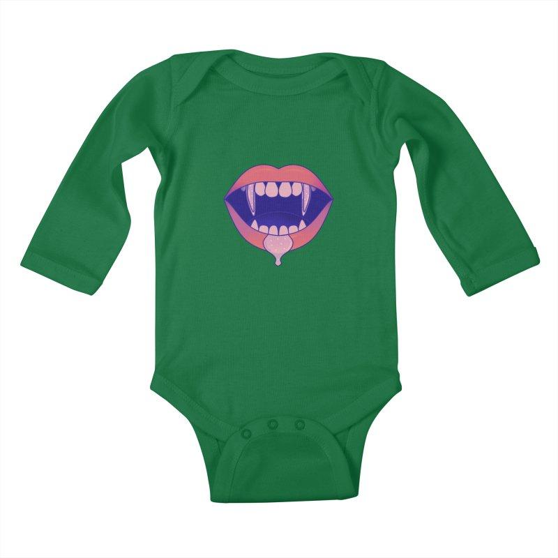 Teeth Kids Baby Longsleeve Bodysuit by theladyernestember's Artist Shop