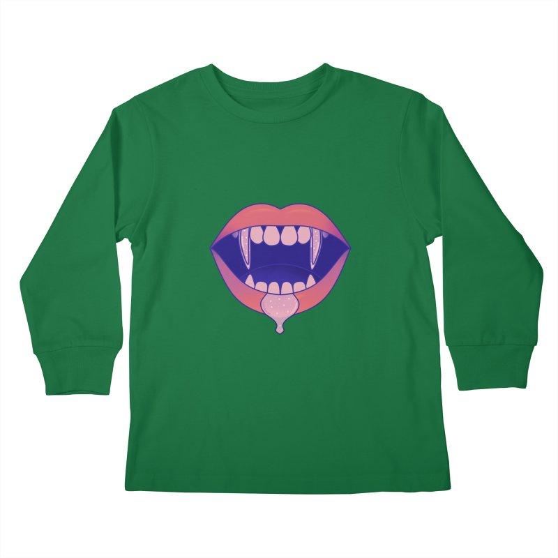 Teeth Kids Longsleeve T-Shirt by theladyernestember's Artist Shop