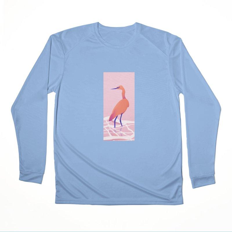 Heron Men's Performance Longsleeve T-Shirt by theladyernestember's Artist Shop