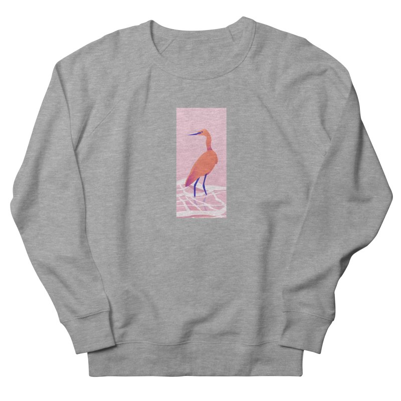 Heron Men's French Terry Sweatshirt by theladyernestember's Artist Shop