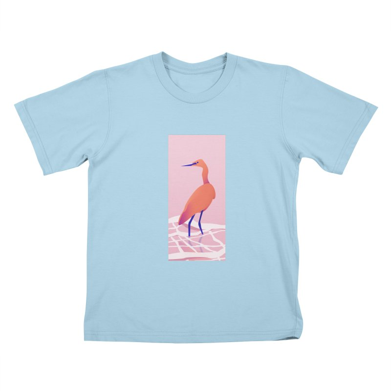 Heron Kids T-Shirt by theladyernestember's Artist Shop
