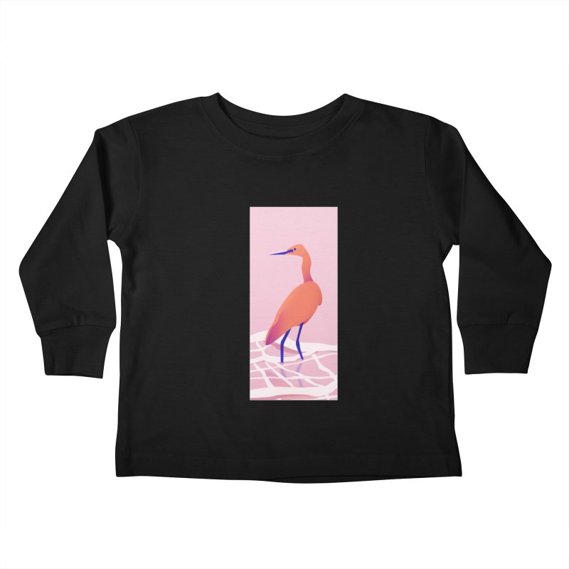 Heron Kids Toddler Longsleeve T-Shirt by theladyernestember's Artist Shop