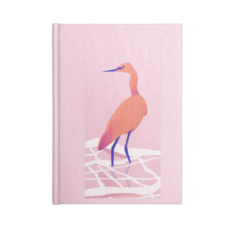 Heron Accessories Lined Journal Notebook by theladyernestember's Artist Shop