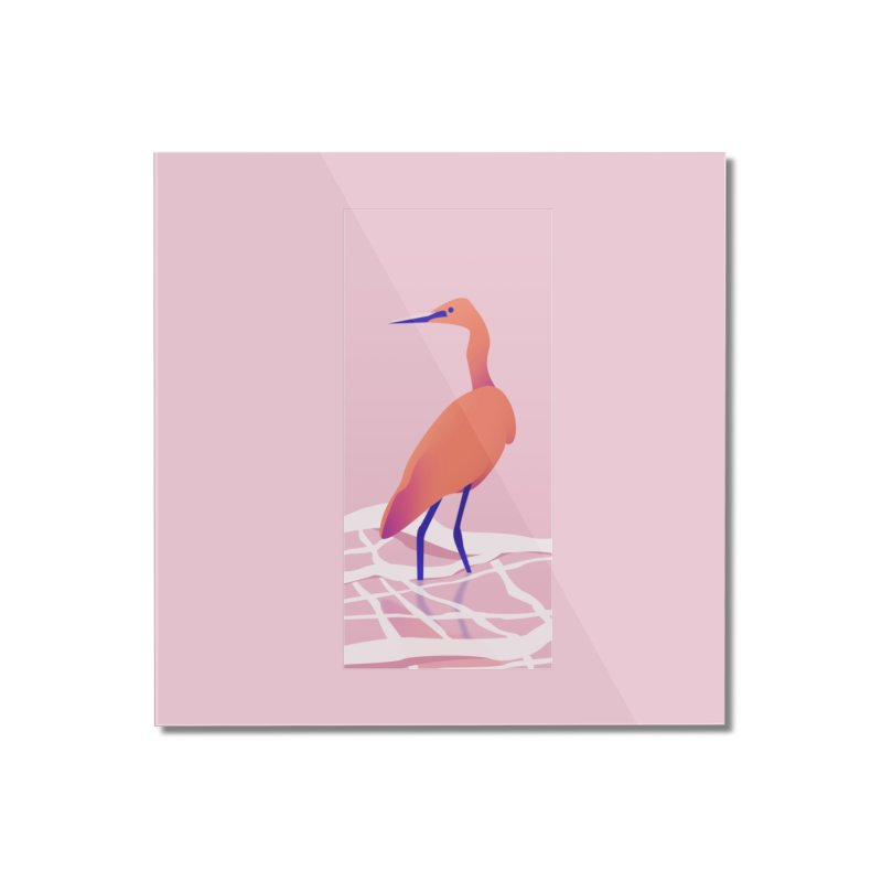 Heron Home Mounted Acrylic Print by theladyernestember's Artist Shop
