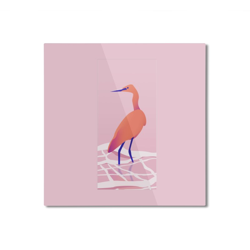 Heron Home Mounted Aluminum Print by theladyernestember's Artist Shop