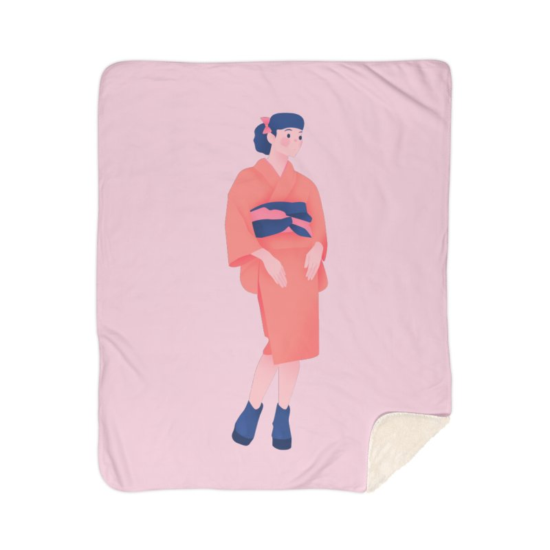 Lady Home Sherpa Blanket Blanket by theladyernestember's Artist Shop