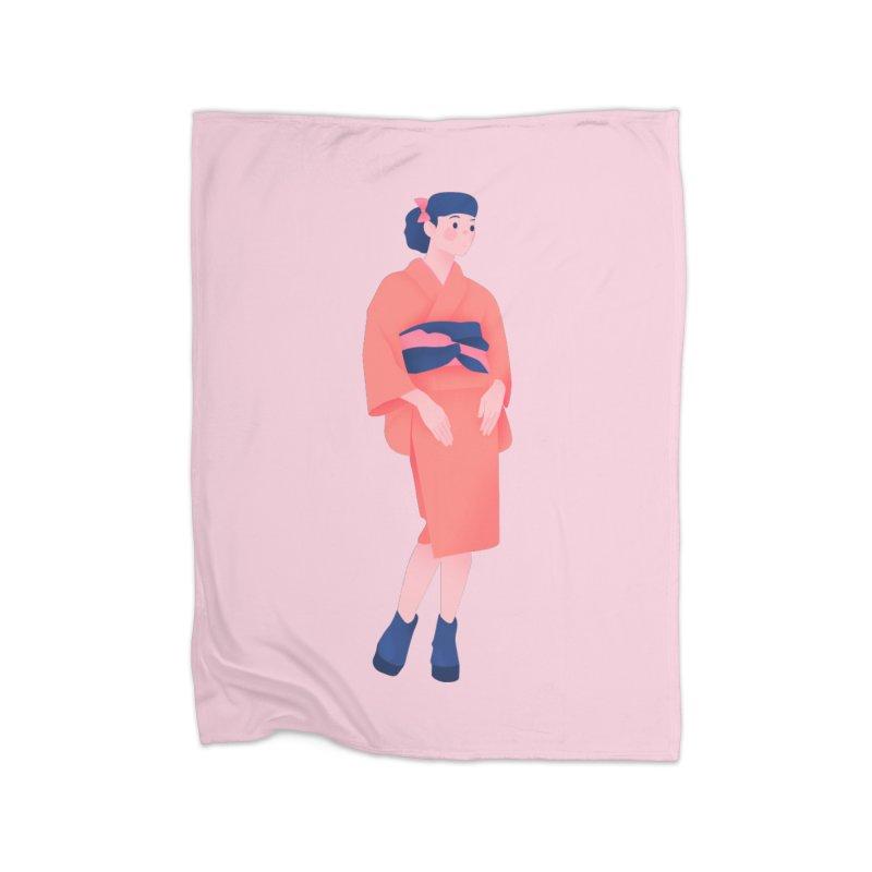Lady Home Fleece Blanket Blanket by theladyernestember's Artist Shop