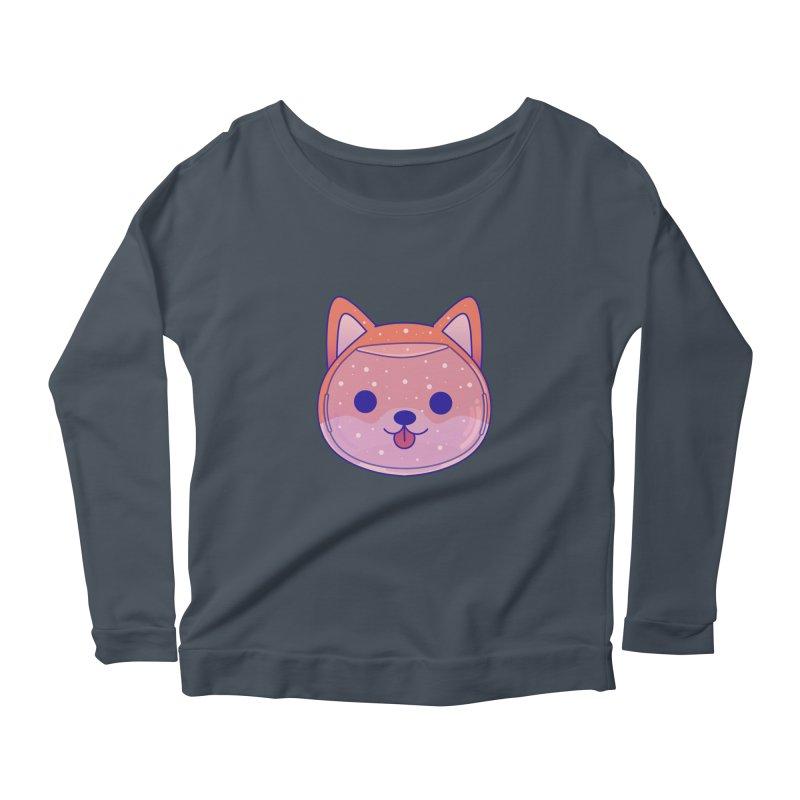 Shiba Inu Dog Women's Scoop Neck Longsleeve T-Shirt by theladyernestember's Artist Shop