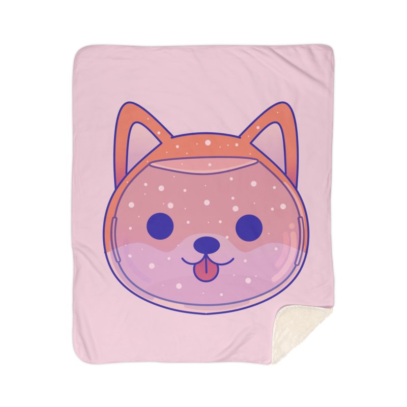 Shiba Inu Dog Home Sherpa Blanket Blanket by theladyernestember's Artist Shop