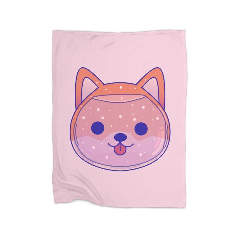 Shiba Inu Dog Home Fleece Blanket Blanket by theladyernestember's Artist Shop