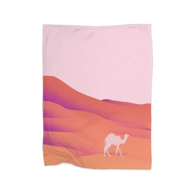 Desert Home Fleece Blanket Blanket by theladyernestember's Artist Shop