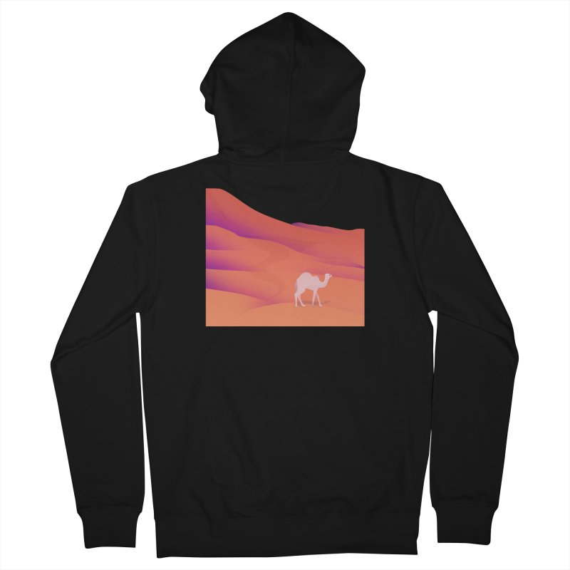 Desert Men's French Terry Zip-Up Hoody by theladyernestember's Artist Shop