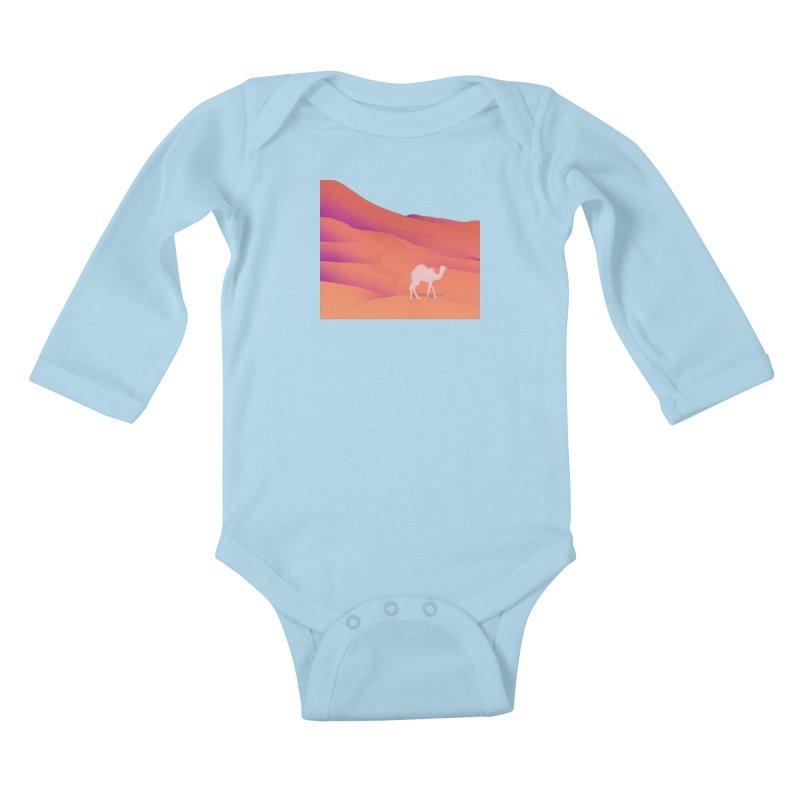Desert Kids Baby Longsleeve Bodysuit by theladyernestember's Artist Shop
