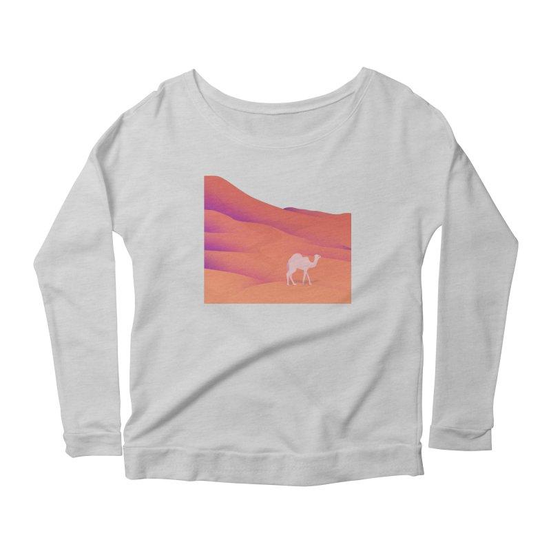 Desert Women's Scoop Neck Longsleeve T-Shirt by theladyernestember's Artist Shop
