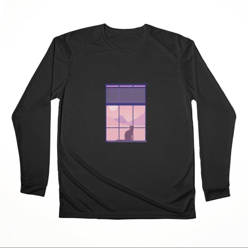 Cat Men's Performance Longsleeve T-Shirt by theladyernestember's Artist Shop
