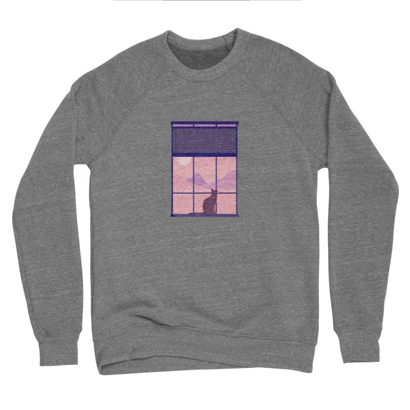 Cat Men's Sponge Fleece Sweatshirt by theladyernestember's Artist Shop