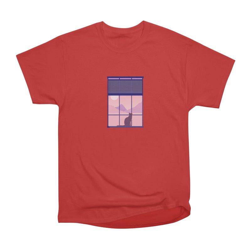 Cat Men's Heavyweight T-Shirt by theladyernestember's Artist Shop